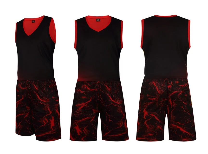 Free shipping Men Basketball suit male ground-breaking camouflage clothing training game sport jersey,basketball t-shirts+shorts(China (Mainland))