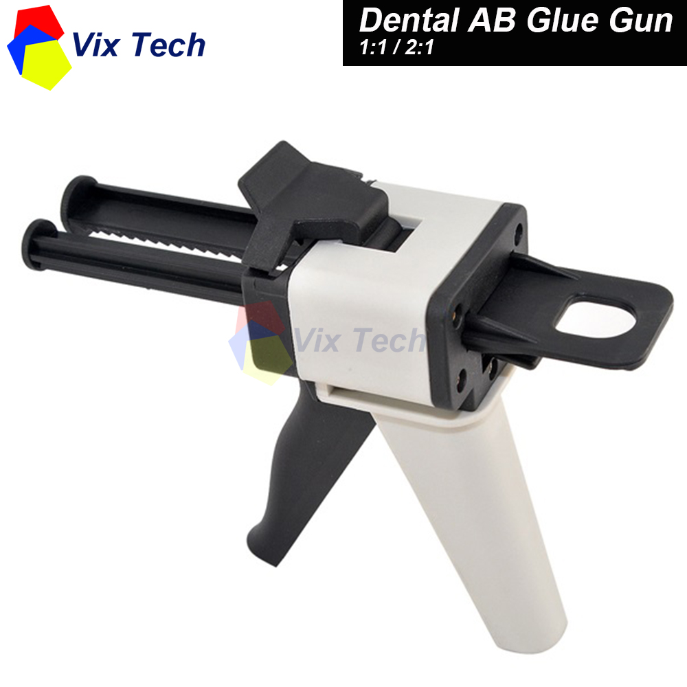 Dental ab glue gun 1 1 2 1 ratio model silicone rubber for Ab salon equipment reviews