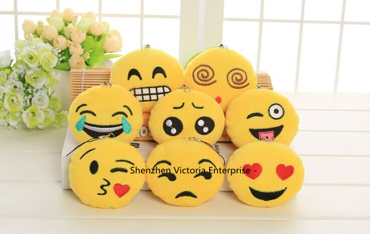 NEW 8Designs Choice - Emojis 6CM Stuffed Plush TOY DOLL , Cheap Gift Plush Decor Toy Wedding Bouquet Plush Toy DOLL(China (Mainland))