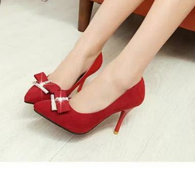 spring 2015 new han edition shoes pointed high-heeled heel shallow mouth low help women's - Alimi Marr's store