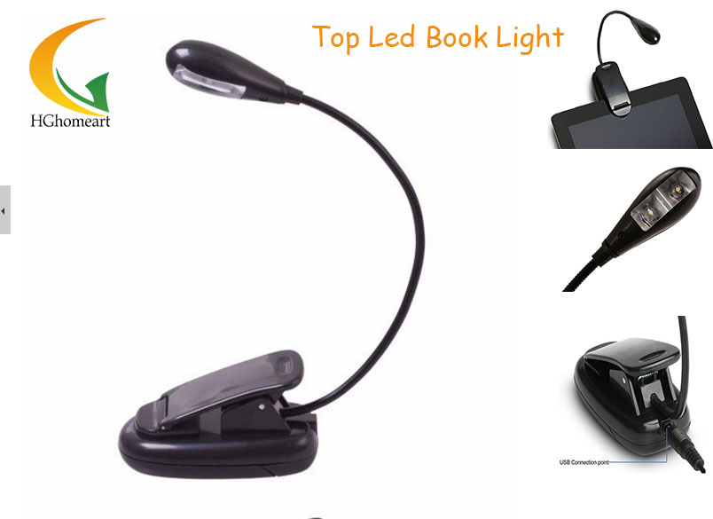 Bright Mini Flexible Clip-On LED Light Book Reading Lamp For E-Book Reader USB Mini Led book Light Desk lamp(China (Mainland))