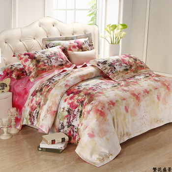 Textile rustic 100% activity of cotton bed sheets piece set brief spring and summer bedding