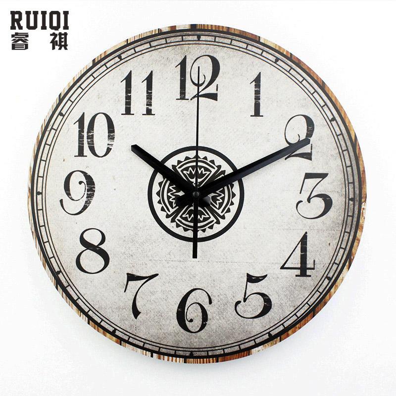 retro wall decor clocks silent bedroom decoration quartz watch wall