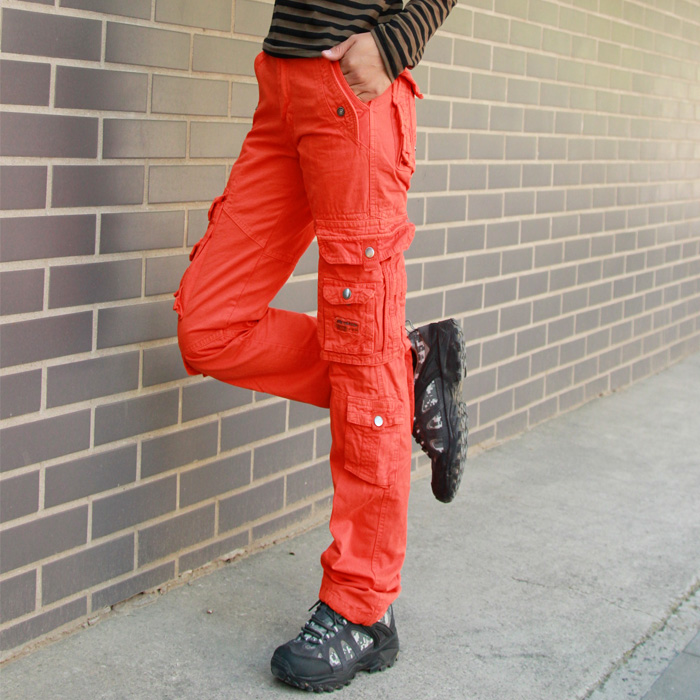 Innovative Women39s Camoflauge Cargo Pants In Black Amp Red By REDFOXWEAR