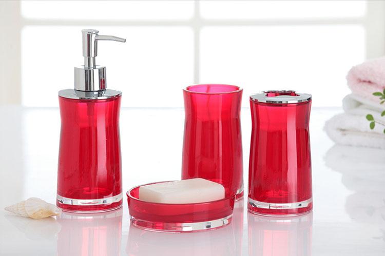 Euro Style Bathroom Suite 4pcs Bathroom Set 4pcs Bath Set(4pcs in One Set: Cup+Tooth Brush Holder+ Soap Dispenser+Soap Holder)(China (Mainland))