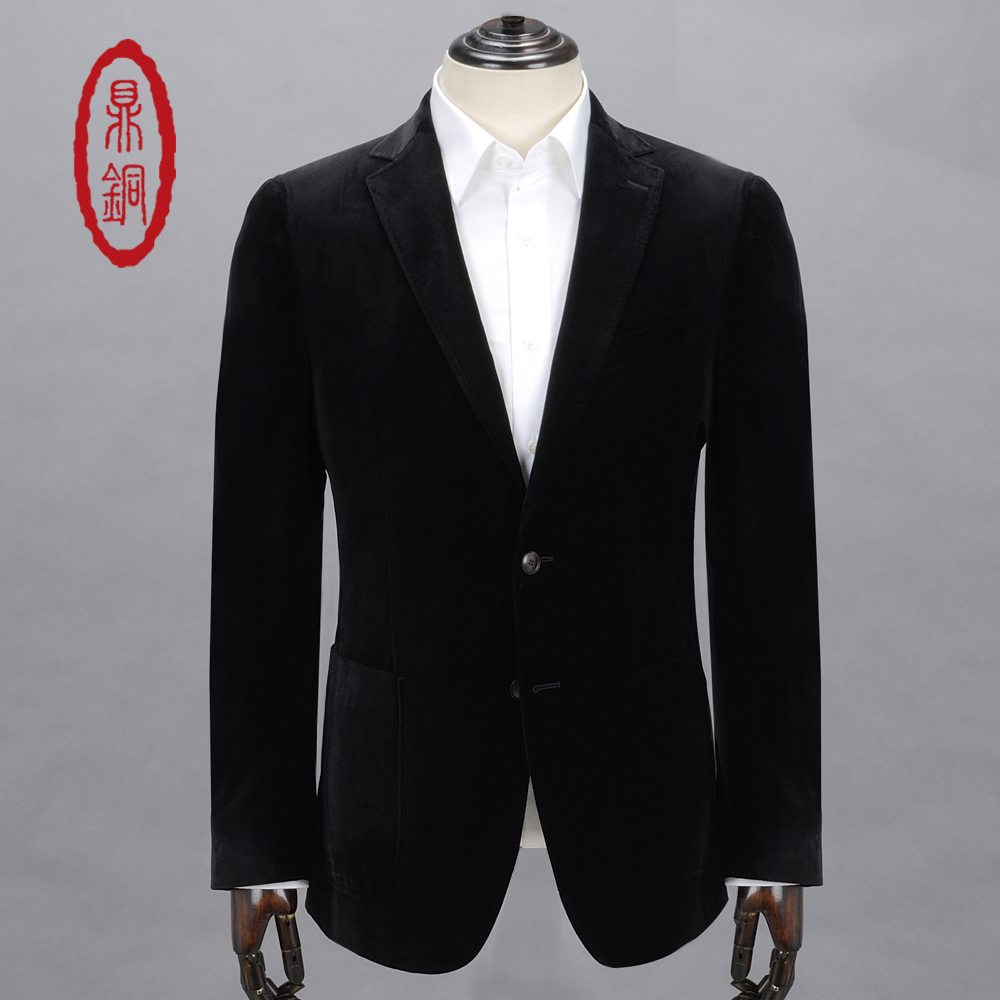 DINGTONG Men's Spring Autumn Single Suit Polyester Fabric Fashion Style Blazers for Men Business Casual Dress Coats(China (Mainland))