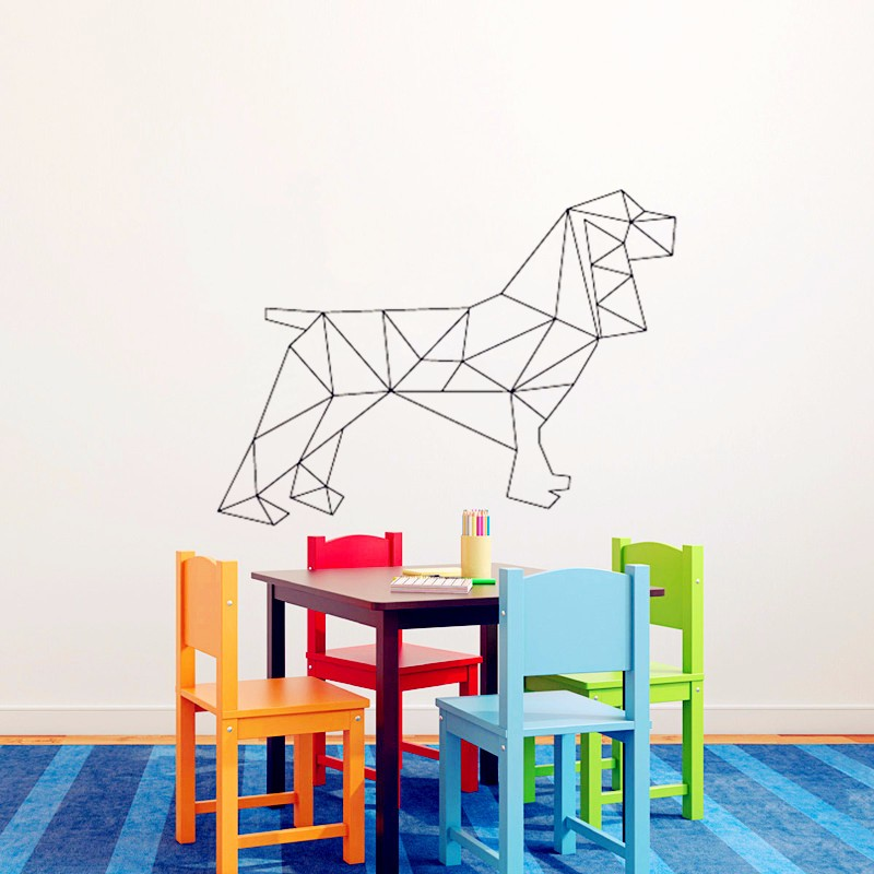 C092 Geometric dog Wall Sticker for home decor wall Decals 3D Vinyl Wall Art for Home Decoration(China (Mainland))
