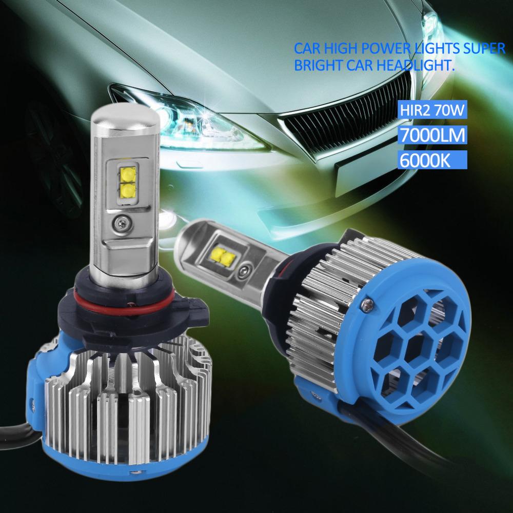 H1/H3/H7/H8/H9/H11/9005/HB3/9006/HB4/880/881/H27/9012/HIR2/H4 Car High Power Light Car Headlight Auto Front Lamp 7000lm 6000K