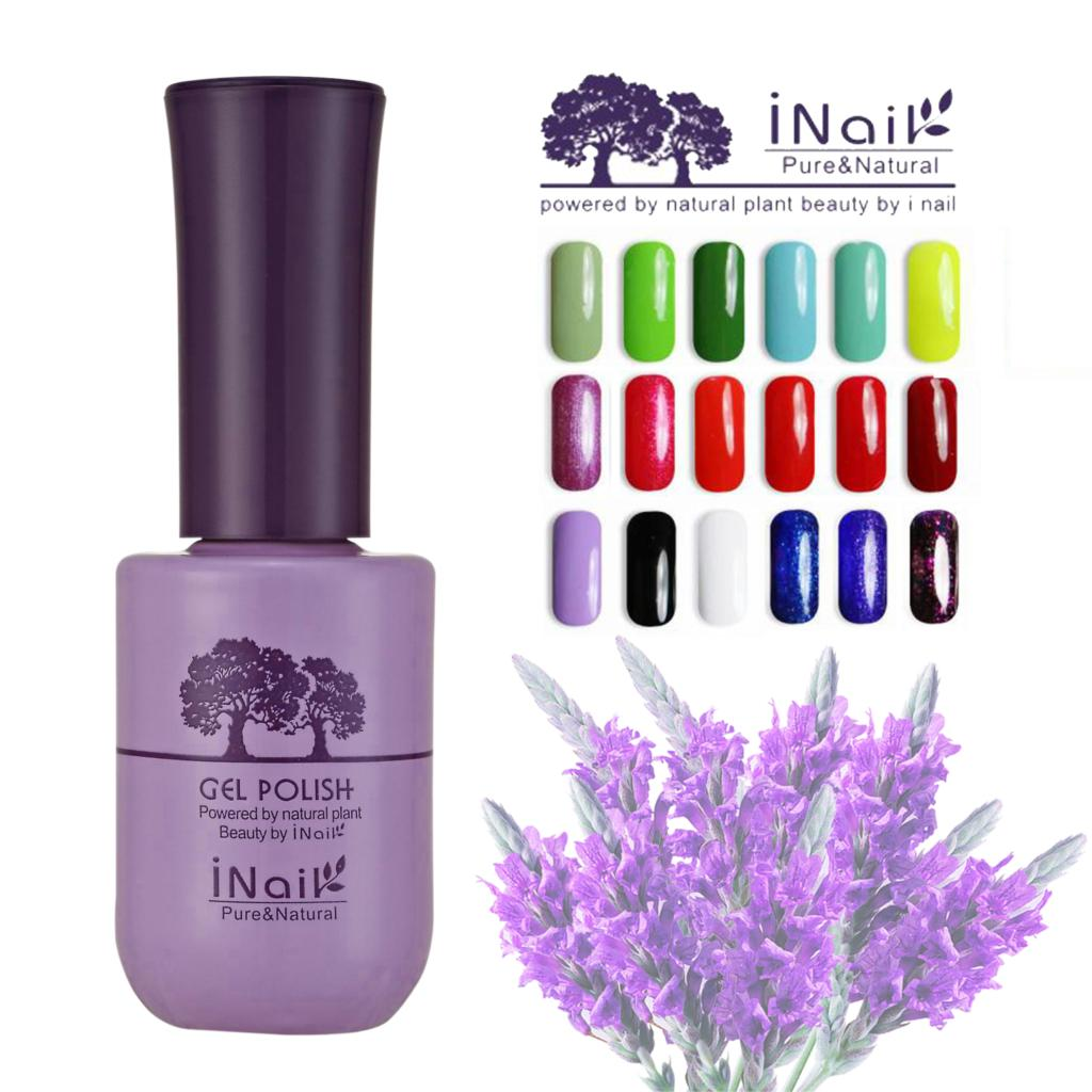 6pcs Inail Lavender Aroma Gel Nail Polish 15ml 78 beautiful colors for choice and cure in the light.(China (Mainland))