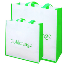 wholesale 500pcs/lot custom printing your logo eco-friendly reusable grocery shopping bags promotional non woven shopping bags(China (Mainland))