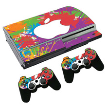 Fruitapple style Non-slip Waterproof Protective Host Stickers Case 2pcs Controller Stickers Skins for SONY PlayStation 3  PS3