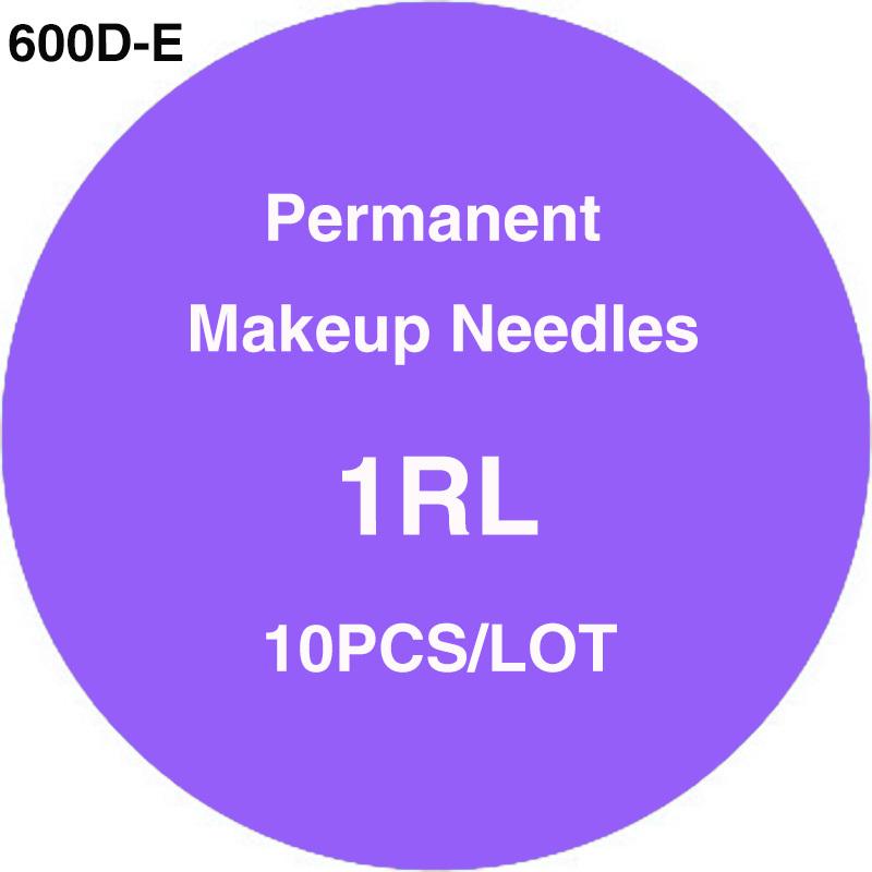 600D-E Sterilized Disposable Tattoo & Permanent Makeup Cartridge Needles 1RL for Rotary Machine Gun 10pcs/lot Free Shipping