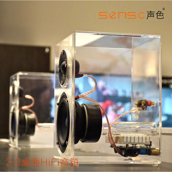 Original Sensc X1 Plus Crystal Super bass 2.0 Speaker,Craftsman luxury Desktop HiFi Crystal Love Active stereo speaker for PC/TV