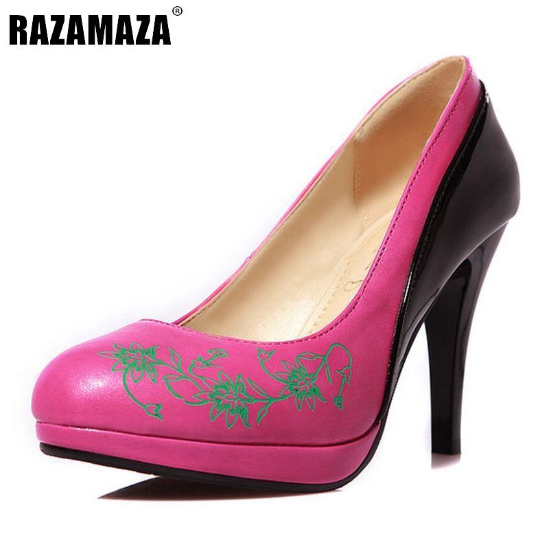 Size 33-45 Fashion Womens Shoes Ladies Stiletto High Heels Office Dress Work Court Platform Women Pumps Zapatos Mujer