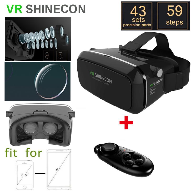 VR SHINECON Moke 3.0 1.0 Version VR 3D Glasses google cardboard HD VR Glasses + Phone Bluetooth Wireless Mouse gamepad(China (Mainland))