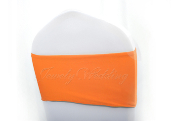 Wholesale 100 piece Orange Lycra Chair Cover Bands Spandex Chair Bow Wedding Party Banquet Decor Free shipping via Fedex