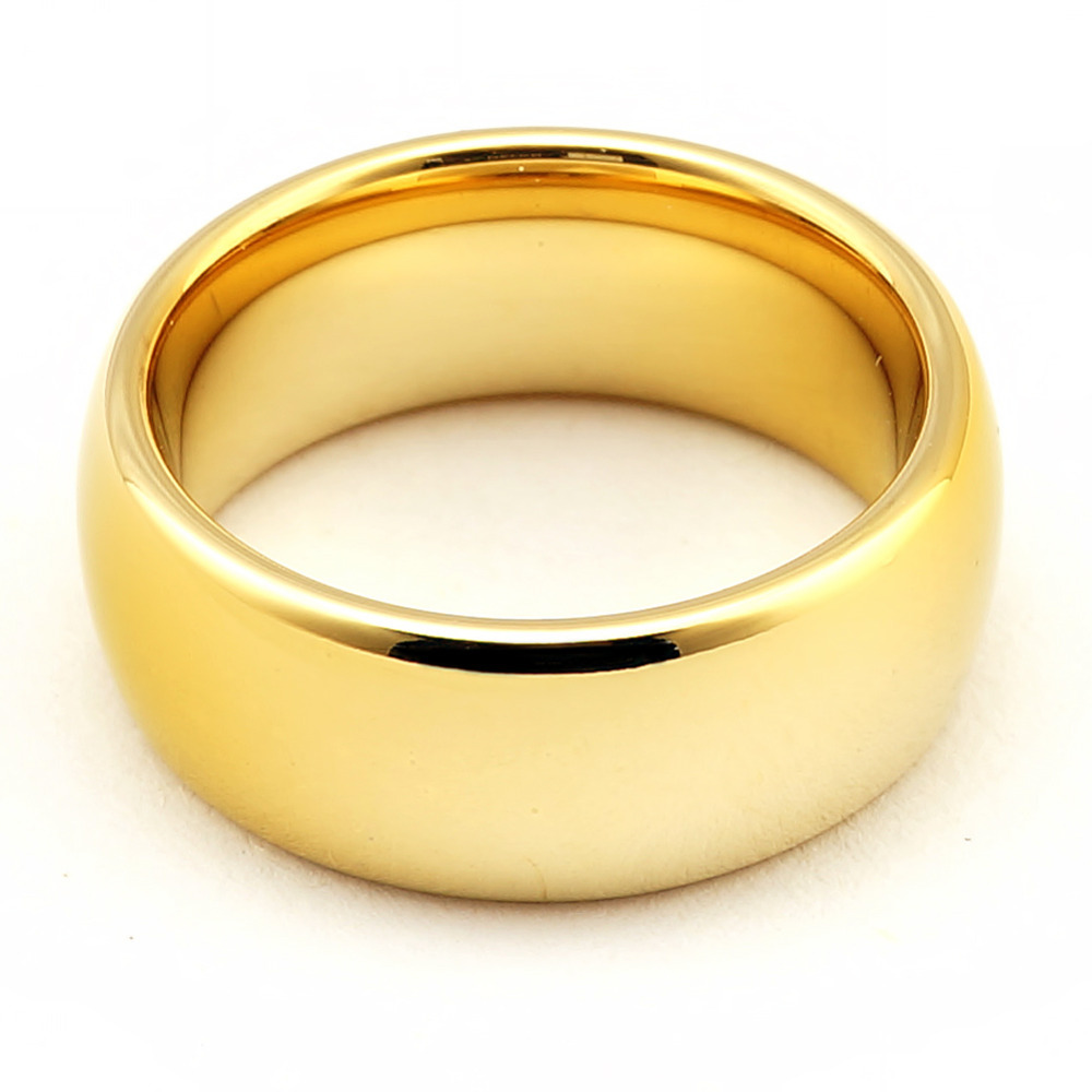 Gold wedding ring with