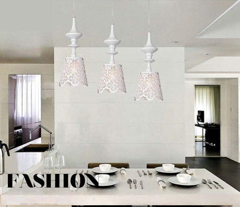 Modern Pendant Lights Dining Room Hanglamp Through-Carved Flower Home Light Fixtures Iron lamparas  lustres de sala E27 90-240V<br><br>Aliexpress