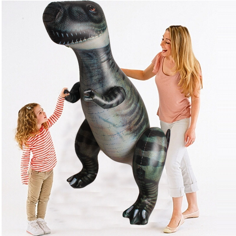 Фотография Child Toy Giant Inflatable Dinosaur Tyrannosaurus Rex Halloween/Birthday Decorations Props Party Supplies Favor 185 CM Souvenirs