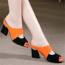 New fashion women pumps 2016 summer brand new design red bottom medium heel women pumps Genuine Leather sexy office shoes