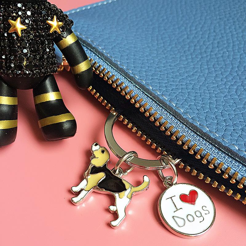 Mini pet dog key chain key ring Advertising keychains holiday gift bulldog dachshund Chow chow husky Corgi Factory direct sales(China (Mainland))