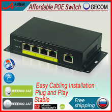 4 port POE Switch IEEE802.3af/at, Power to IP Camera and Wireless AP, fast ethernet switch with 4 poe(China (Mainland))