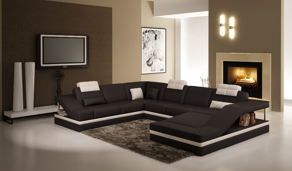 leather sofa 5039 black white picture in living room sofas from