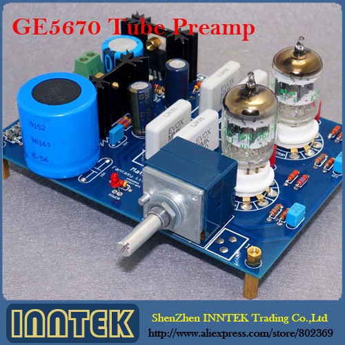 Assembled GE5670 X2 Tube Preamp Amplifier Board Reference to MATISSE, Free shipping(China (Mainland))