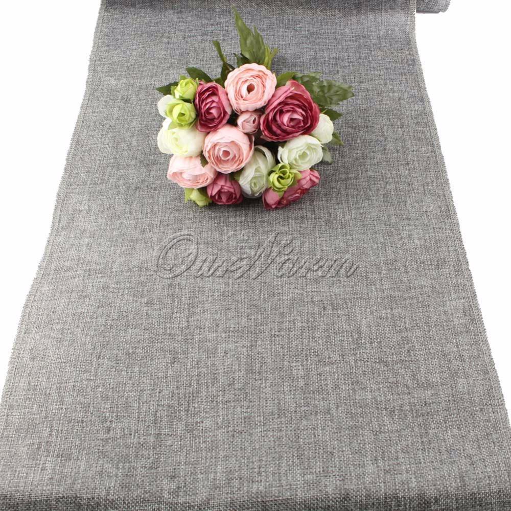 Achetez en gros gris chemin de table en ligne des - Chemin de table gris ...