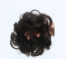 Free shopping Human hair bun Hair bands  clip in Chignon hair pieces Curly hair buns
