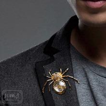 Steampunk mechanical spider brooch