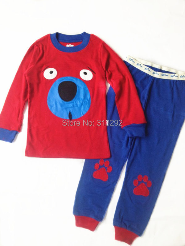 TP59, dog, Baby/Children pajamas, 100% Cotton long sleeve sleepwear/clothing sets for 2-7 year.<br><br>Aliexpress