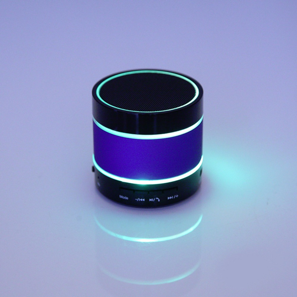 Newest S09 Bluetooth Wireless Stereo Mini Portable Speaker for iPhone LED Light Dancing TF Card High quality(China (Mainland))