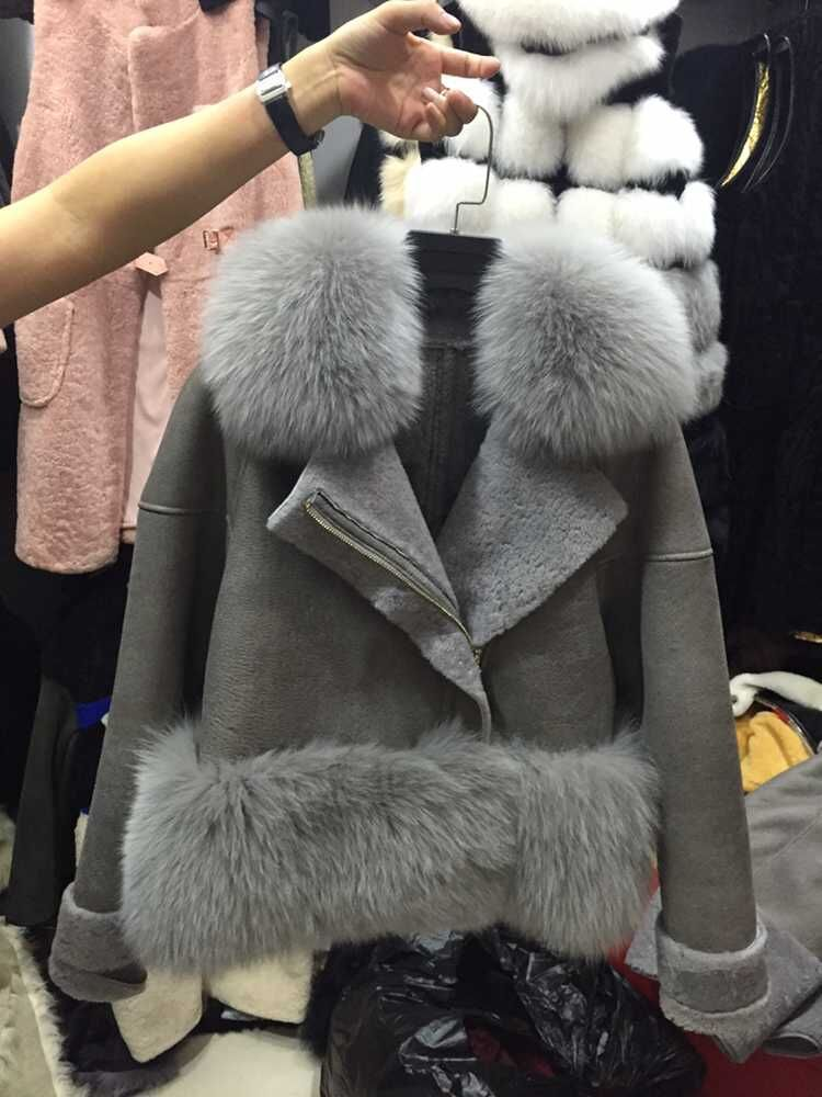 Real Fur Trim Coat - Coat Nj