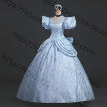 Adult Cinderella Costumes Deluxe Dark Blue A-Line Cinderela Cosplay Shiny Ball Gown Cinderella Dress Cosplay Costume