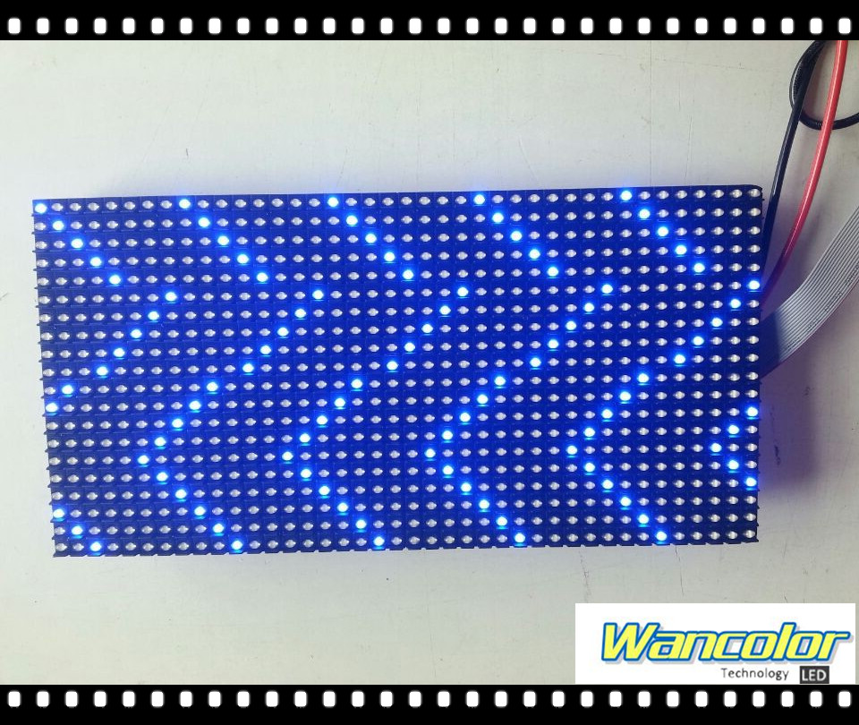 p10 semi-outdoor single blue color Advertising LED Message sign Module 320*160mm size with Free Hub Cable & Power Cable&magnet(China (Mainland))
