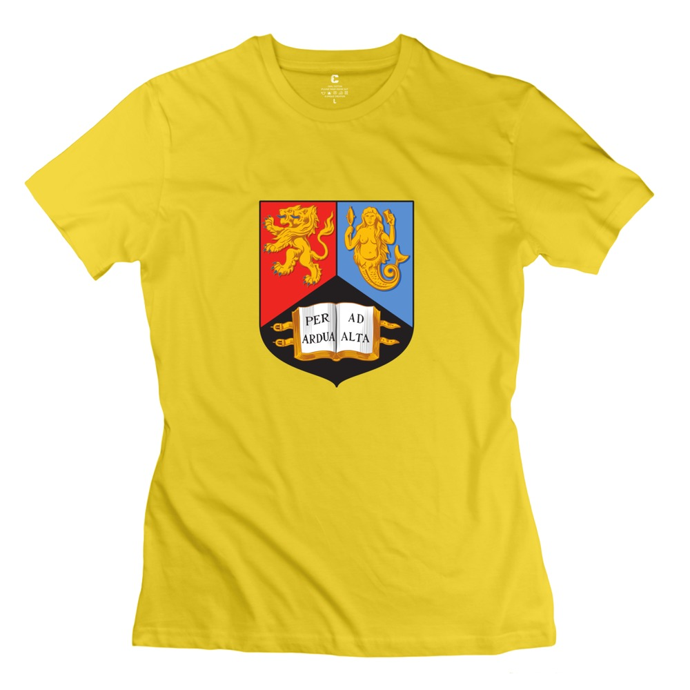 University of birmingham solid t shirt for women cartoon for University t shirts with your name