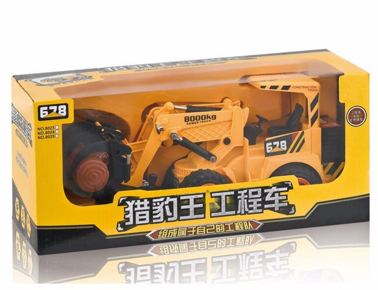 The most popular Child Toys excavator Construction Truck wire channel RC Car electric cars grab wood toys for children & Gifts
