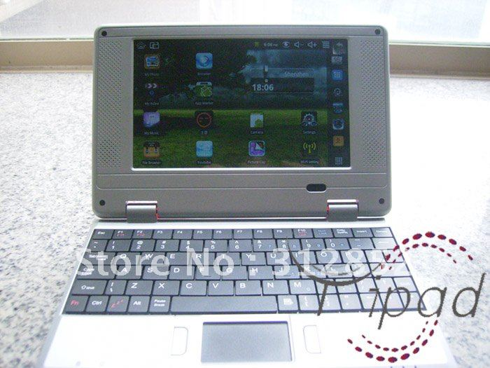 Free shipping 7inch VIA8650 android 2.2/WINCE UMPC EPC notebook mini laptop black white green red pink(China (Mainland))
