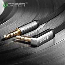 Ugreen 3.5mm cabo de áudio de 90 graus de ângulo direito jack plana 3.5mm cabo aux cabo para iphone car aux falante fone de ouvido batidas MP3/4(China (Mainland))