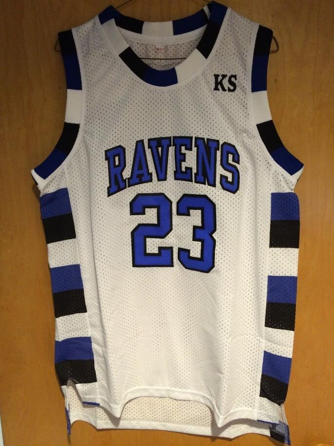 One Tree Hill Ravens Lucas Scott #3 Movie Jersey Hill Nathan Scott #23 Ravens Basketball Jersey white(China (Mainland))