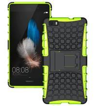 Для Huawei Y3 Y3C Y360 Y336 / P8 Lite / Ascend G7 чехол гибридный жесткий тпу тяжелых броня ударопрочный резиновый чехол