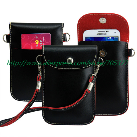 Leather PU Mobile Cell Phone Bag Case Cover Lanyard for iphone 4s 5s 5c Samsung Galaxy s3 mini s4 moto g FOR LG L70 L90 htc(China (Mainland))