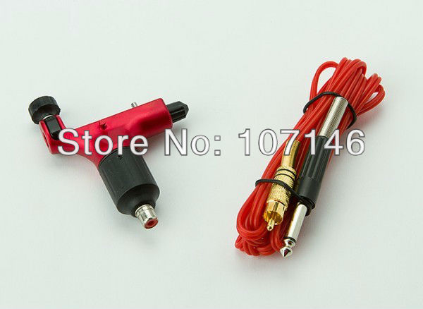 Pro Spektra halo Rotary Gun Tattoos Machine Red Color &amp; RCA Clip Cord Freely For Tattoo Supply Hot<br><br>Aliexpress