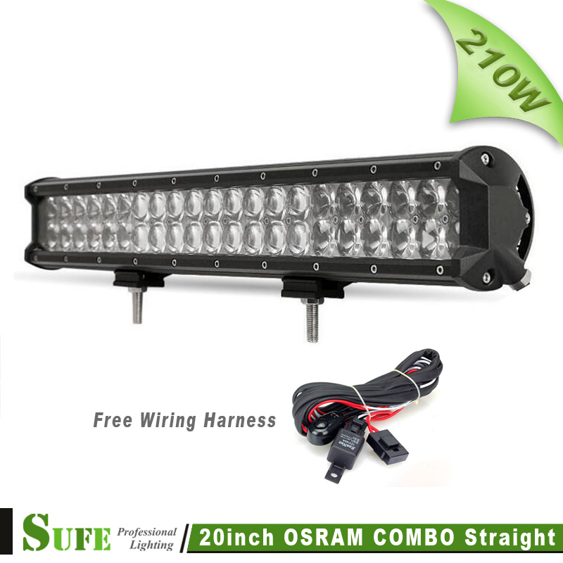 20INCH 210W OSRAM 4D LED Light Bar For Off Road Truck Tractor 4X4 SUV Pick Up CREE Driving Bar Light Free Wiring Harness 12V 24V(China (Mainland))