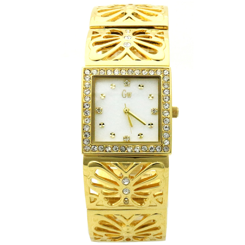 GOLD WINNER Brand Fashion Women Ladies Diamond Bracelet Bangle Shell Dial Watches Quartz Watches Wristwatches GW180055<br><br>Aliexpress