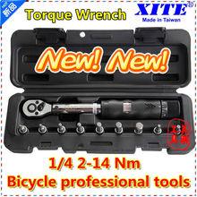 "XITE 1/4""DR 2-14Nm 10 piece torque wrench Bicycle bike tools kit set tool bike repair spanner(China (Mainland))"