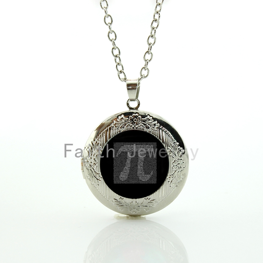 Geek boys gift retro light grey tone Pion Number pendant jewelry maths physics Pi symbol locket necklace gift idea HH235(China (Mainland))