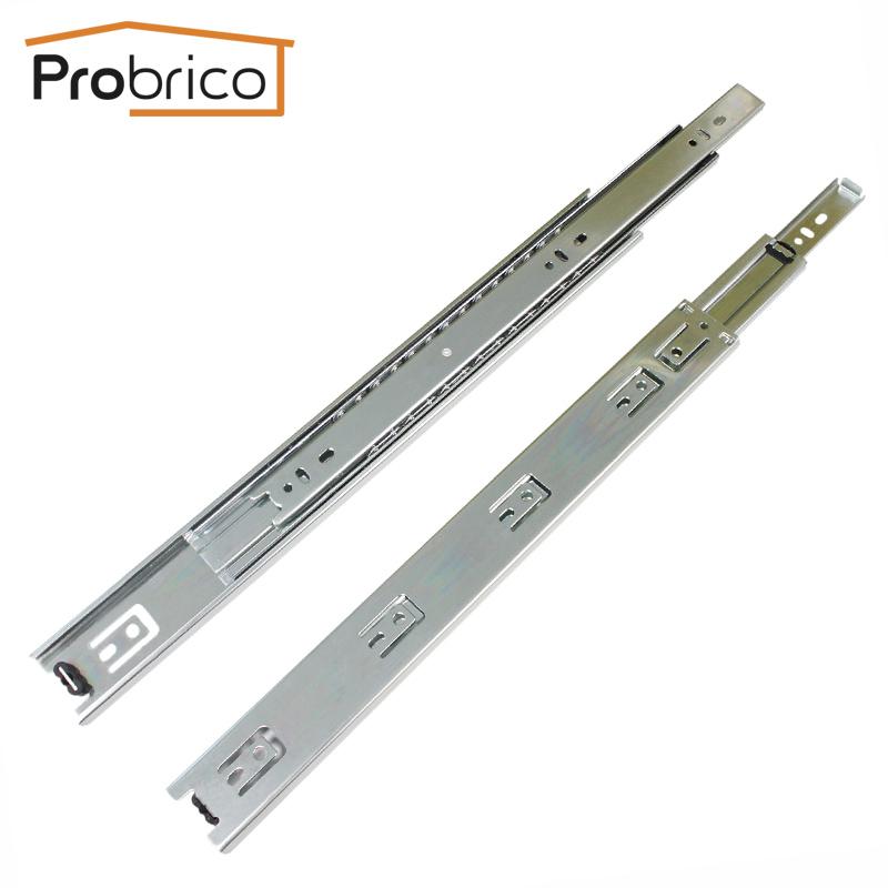 Probrico 10PCS DS4501-16 Steel Zinc Plated 16  Kitchen Cabinet  Furniture Cupboard Normal Standard Full Extension Drawer Slides<br><br>Aliexpress