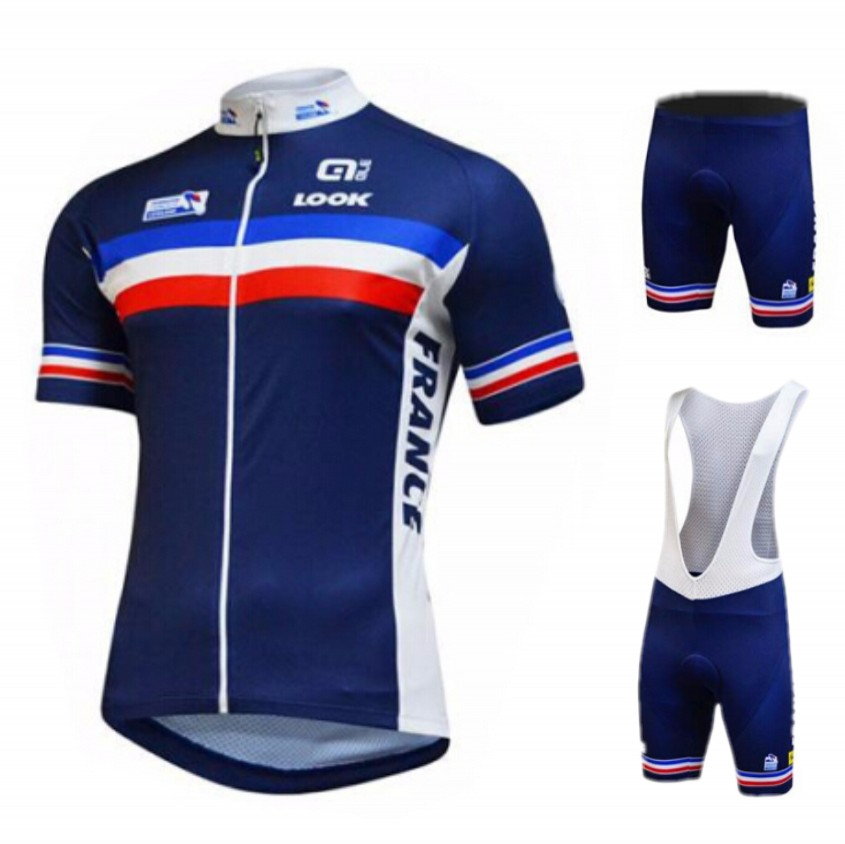 2015 Blue Tour de France Team France Cycling Jersey Maillot Ciclismo Bike Clothing Bicycle Clothes GEL Pad Mtb Jersey(China (Mainland))